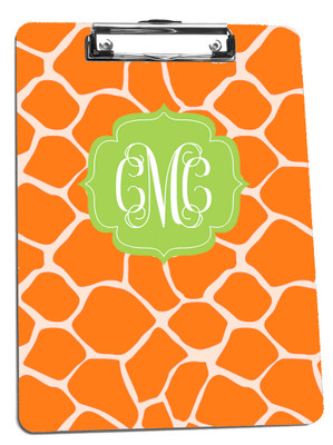 Clipboard-Orange Giraffe