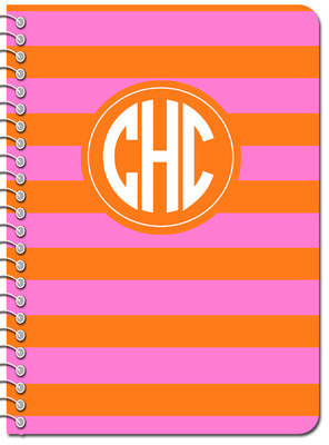 Composition Notebook-Orange Hot Pink Rugby (DESIGN IT YOURSELF)