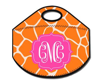 Lunch Tote- Orange Giraffe