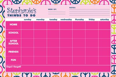 Weekly Jumbo Planner Pad-Peace