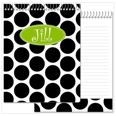 Flip N Doodle - Black and White Polka Dots