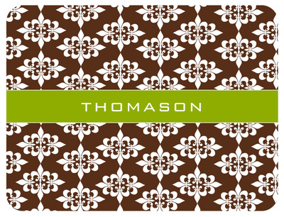Cutting Board -Chocolate Pea Damask