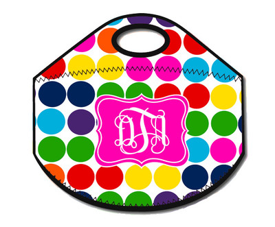 Lunch Tote- Crazy Dots