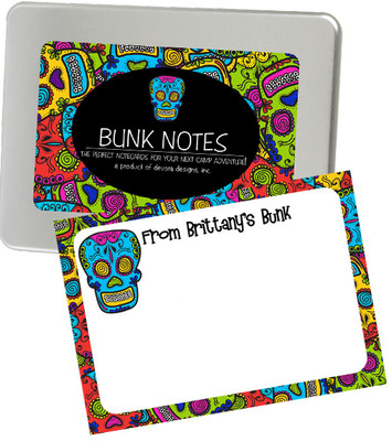 Bunk Notes-Comic Skulls