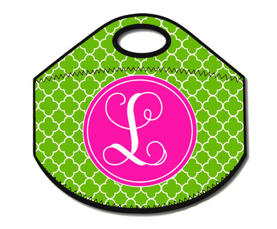 Lunch Tote- Grass Pink Clover