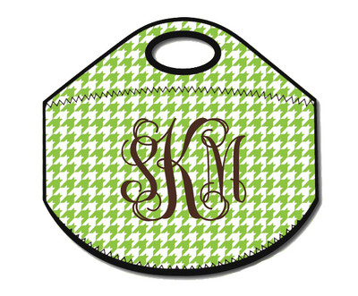 Lunch Tote- Green Houndstooth