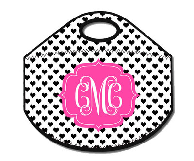 Lunch Tote- Black and White Dots