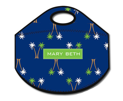Lunch Tote- Palm Beach Navy