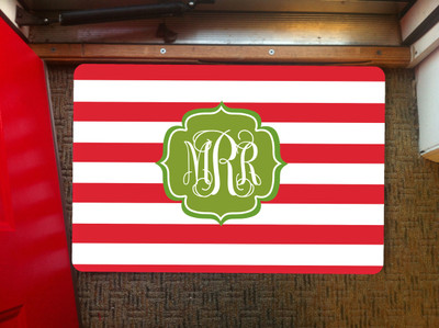 Doormat- Holiday Stripes