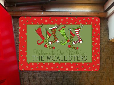 Doormat- Holiday Stockings