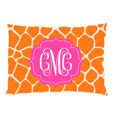 PILLOWCASE-Orange Giraffe