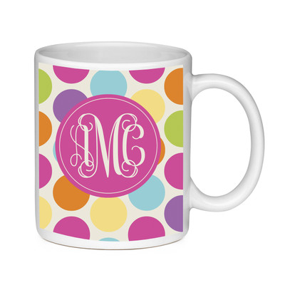Coffee Mug-Polka Dots Brights