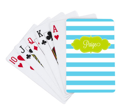 Playing Cards -Blue Lagoon Stripes