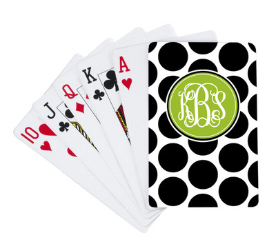 Playing Cards -BW Polka Dots