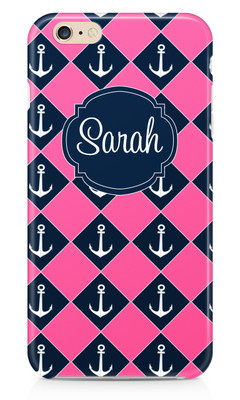 Hardcases-Pink and Navy Anchors