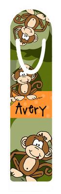 Metal Bookmark- Camo Monkey