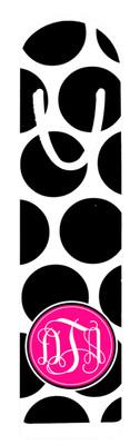 Metal Bookmark- BW Polka Dots