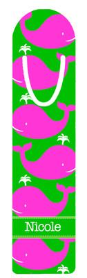 Metal Bookmark- Pink Whales