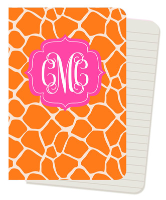Mini Journals - Orange Giraffe