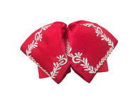 Embroidered Charro Bowtie Red/silver