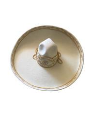 Semi professional sombrero with metallic thread