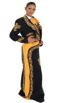 Charro suit embroidered with metallic thread