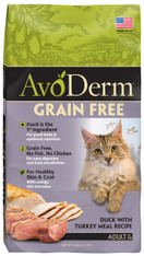 AvoDerm Natural Duck with Turkey Meal Cat Dry Food (2.5 lb Bag)