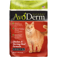 AvoDerm Natural Adult Chicken & Herring Meal Dry Cat Food (6 lb Bag)