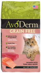 AvoDerm Grain Free Salmon with Tuna Meal Dry Cat Food (5 LB)
