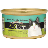 AvoDerm Grain Free Sardine, Shrimp & Crab Entree in Gravy Wet Cat Food (3 0Z)