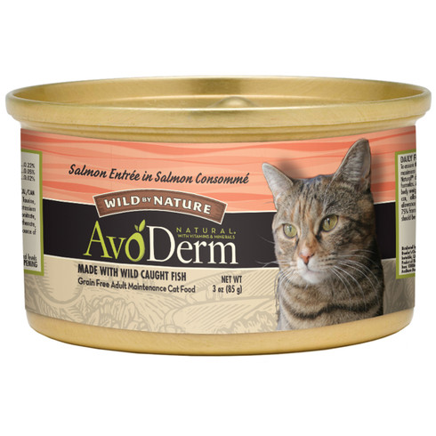 AvoDerm Grain Free Salmon in Salmon Consomme Wet Cat Food (3 0Z)