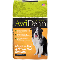 AvoDerm Natural Chicken & Brown Rice Adult Dry Dog Food (15 LB)
