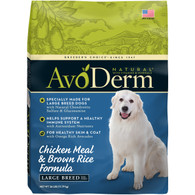 AvoDerm  Natural Chicken Meal & Brown Rice Formula for Large Breed (15 LB)