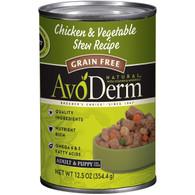 AvoDerm Grain Free Chicken & Vegetable Stew Recipe (12.5 OZ Can)