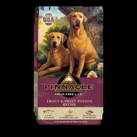 PINNACLE GRAIN FREE TROUT & SWEET POTATO DRY DOG FOOD (24 LB)