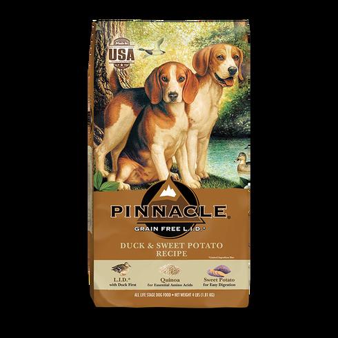 PINNACLE GRAIN FREE DUCK & SWEET POTATO DRY DOG FOOD (12 LB)