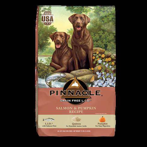 PINNACLE GRAIN FREE SALMON & PUMPKIN DRY DOG FOOD (24 LB)