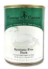 Canine Caviar Gourmet Synthetic Free Canned Duck