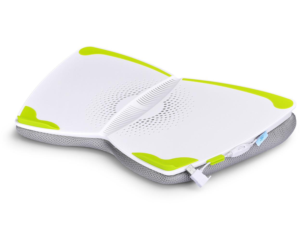 Deepcool E Lap Ergonomic Cooling Pad For Use On U Pal Usb 30 Notebook Cooler Black Image 1