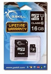 G.Skill MicroSDHC 16GB Class 10 UHS-1 with Adapter