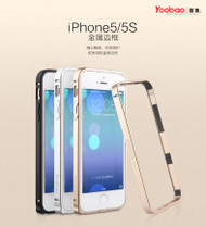 Yoobao Silver Metal aluminum alloy bumper for iphone5/5s