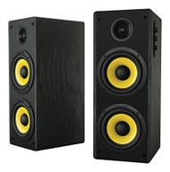 Thonet and Vander HOCH BT - 2.0 Wooden Bookshelf Bluetooth Speakers Black