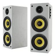 Thonet and Vander HOCH BT WHITE - 2.0 Wooden Bookshelf Bluetooth Speakers