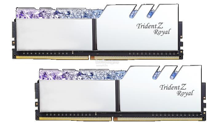 G SKILL Trident Z Royal DDR4 3000Mhz 16GB (2 x 8GB) Desktop Memory with RGB  LED (F4-3000C16D-16GTRS)