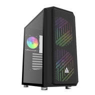 Montech Air X Black Mid Tower Computer Case with Pull Out Glass EATX support and ARGB Lighting