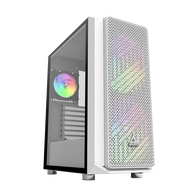 Montech Air X White Mid Tower Computer Case with Pull Out Glass EATX support and ARGB Lighting