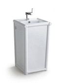 Aurelia - Modern Bathroom Pedestal Sink 19.7""