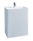 Cadeo - Modern Bathroom Pedestal Sink Cast Stone 23.6""