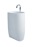 Nurri - Modern Bathroom Pedestal Sink Cast Stone 21.6""