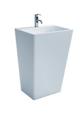 Fazio - Modern Bathroom Pedestal Sink Cast Stone 21.7""
